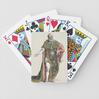 Henri IV (1553-1610) King of France, from 'Receuil Poker Deck