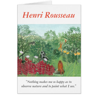 Henri Rousseau Artist Quote Monkey Jungle Painting Card