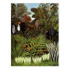 Henri Rousseau- Exotic Landscape Postcard
