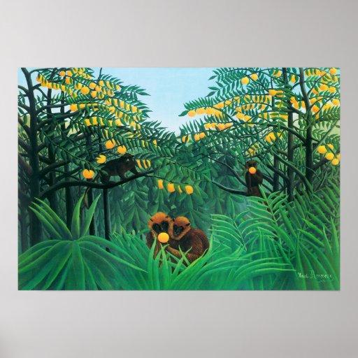 Henri Rousseau l'affiche de tropiques