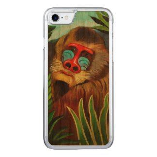 Henri Rousseau Mandrill In The Jungle Vintage Art Carved iPhone 8/7 Case