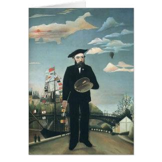 Henri Rousseau- Self Portrait from L ile St Louis Card