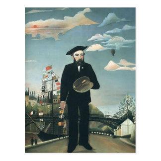 Henri Rousseau- Self Portrait from L ile St Louis Postcards