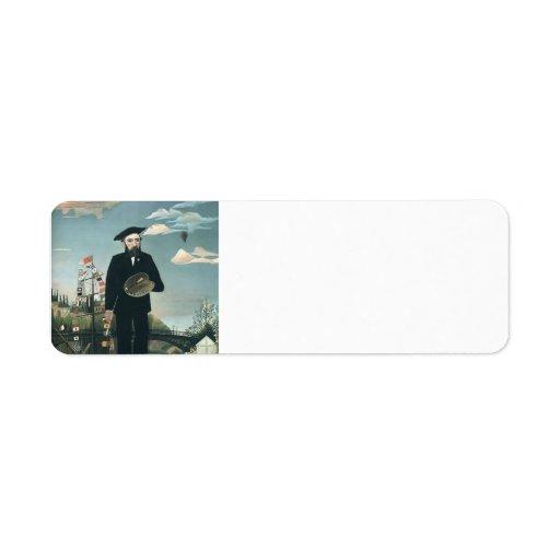 Henri Rousseau- Self Portrait from L'ile St Louis Return Address Labels