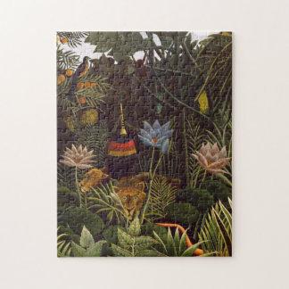 Henri Rousseau The Dream Jungle Flowers Painting Puzzles