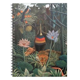 Henri Rousseau The Dream Jungle Flowers Surrealism Note Book
