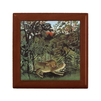 Henri Rousseau - The Hungry Lion Attacking Gift Box
