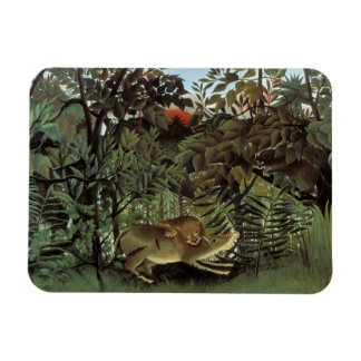 Henri Rousseau - The Hungry Lion Attacking Magnet