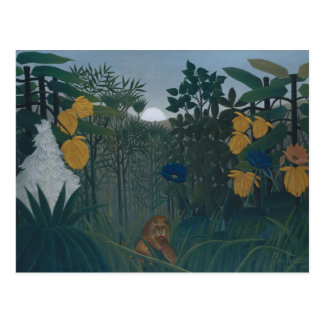 Henri Rousseau - The Repast of the Lion Postcard