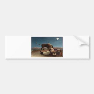 Henri Rousseau The Sleeping Gypsy Bumper Sticker