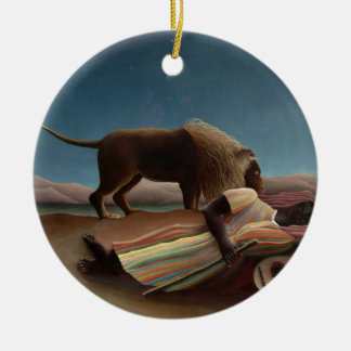 Henri Rousseau The Sleeping Gypsy Ceramic Ornament