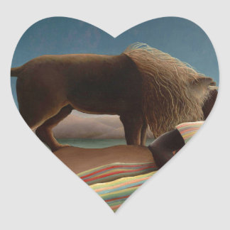 Henri Rousseau The Sleeping Gypsy Heart Sticker