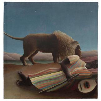 Henri Rousseau The Sleeping Gypsy Napkin
