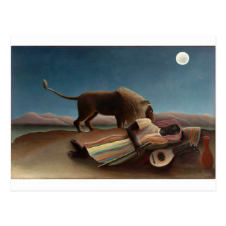 Henri Rousseau The Sleeping Gypsy Postcard