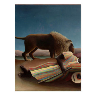 Henri Rousseau The Sleeping Gypsy Postcard