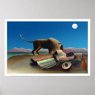 Henri Rousseau - The Sleeping Gypsy Poster