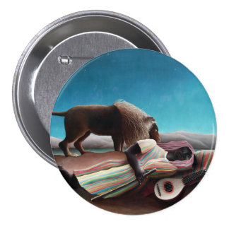 Henri Rousseau The Sleeping Gypsy Vintage 3 Inch Round Button