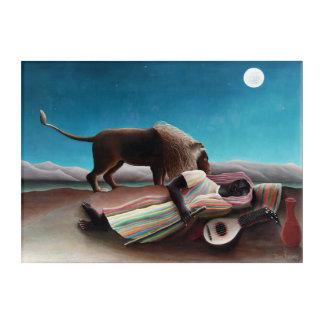 Henri Rousseau The Sleeping Gypsy Vintage Acrylic Wall Art