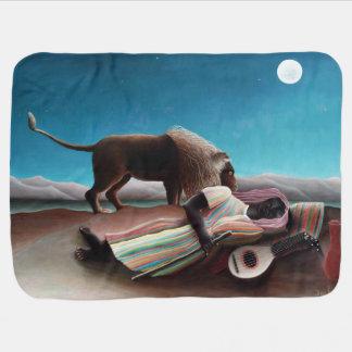Henri Rousseau The Sleeping Gypsy Vintage Baby Blanket