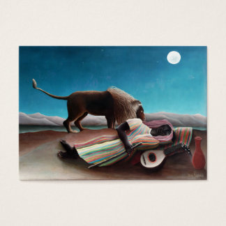 Henri Rousseau The Sleeping Gypsy Vintage Business Card