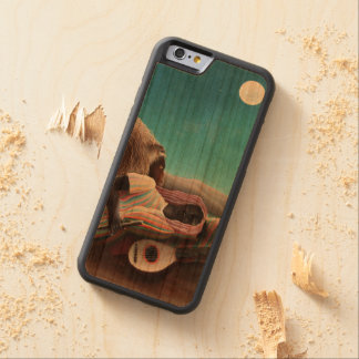 Henri Rousseau The Sleeping Gypsy Vintage Carved Cherry iPhone 6 Bumper Case