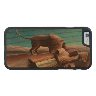Henri Rousseau The Sleeping Gypsy Vintage Carved Cherry iPhone 6 Case