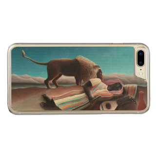 Henri Rousseau The Sleeping Gypsy Vintage Carved iPhone 8 Plus/7 Plus Case