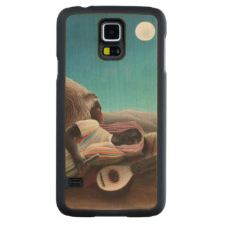 Henri Rousseau The Sleeping Gypsy Vintage Carved Maple Galaxy S5 Case