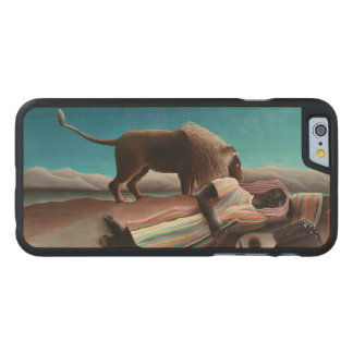 Henri Rousseau The Sleeping Gypsy Vintage Carved Maple iPhone 6 Case