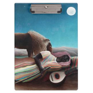 Henri Rousseau The Sleeping Gypsy Vintage Clipboard