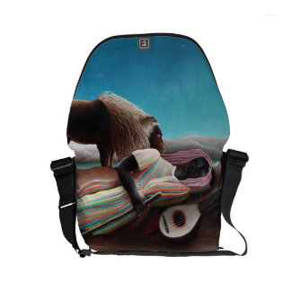 Henri Rousseau The Sleeping Gypsy Vintage Courier Bag
