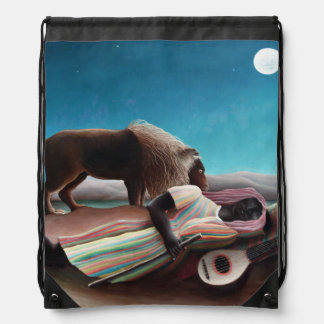 Henri Rousseau The Sleeping Gypsy Vintage Drawstring Bag