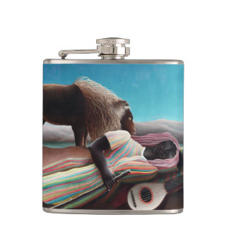 Henri Rousseau The Sleeping Gypsy Vintage Hip Flask