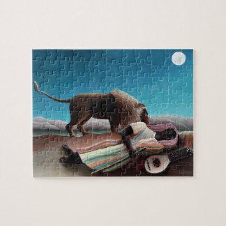 Henri Rousseau The Sleeping Gypsy Vintage Jigsaw Puzzle