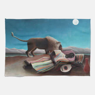 Henri Rousseau The Sleeping Gypsy Vintage Kitchen Towel