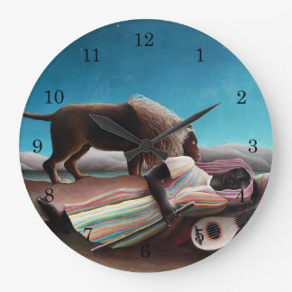 Henri Rousseau The Sleeping Gypsy Vintage Large Clock