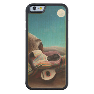 Henri Rousseau The Sleeping Gypsy Vintage Maple iPhone 6 Bumper Case
