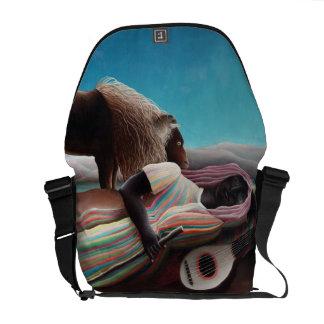 Henri Rousseau The Sleeping Gypsy Vintage Messenger Bag