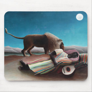 Henri Rousseau The Sleeping Gypsy Vintage Mouse Pad