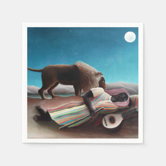 Henri Rousseau The Sleeping Gypsy Vintage Paper Napkins