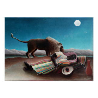 Henri Rousseau The Sleeping Gypsy Vintage Poster