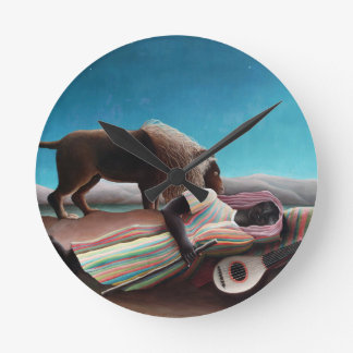 Henri Rousseau The Sleeping Gypsy Vintage Round Clock
