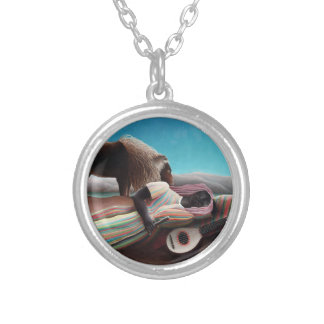 Henri Rousseau The Sleeping Gypsy Vintage Silver Plated Necklace