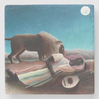 Henri Rousseau The Sleeping Gypsy Vintage Stone Coaster