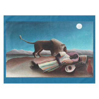 Henri Rousseau The Sleeping Gypsy Vintage Tablecloth