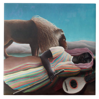 Henri Rousseau The Sleeping Gypsy Vintage Tile