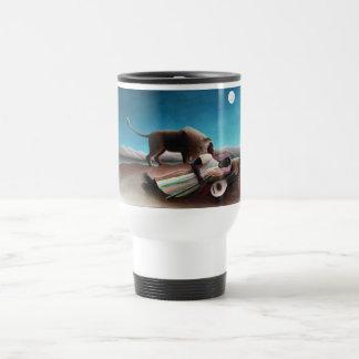 Henri Rousseau The Sleeping Gypsy Vintage Travel Mug