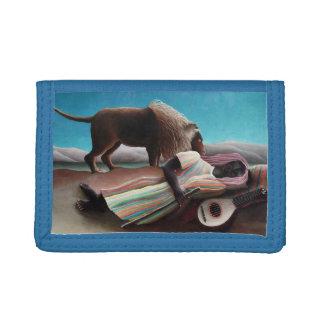 Henri Rousseau The Sleeping Gypsy Vintage Trifold Wallets