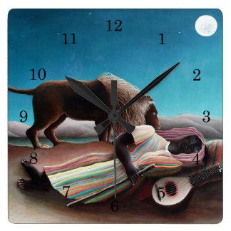Henri Rousseau The Sleeping Gypsy Vintage Wall Clocks