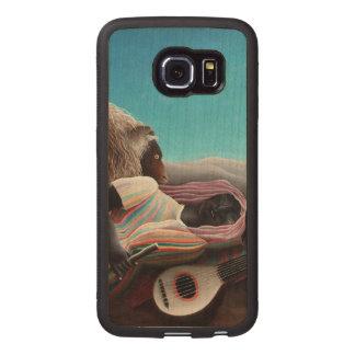 Henri Rousseau The Sleeping Gypsy Vintage Wood Phone Case